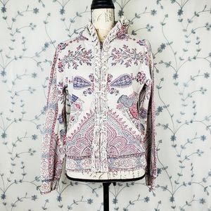 Boho paisley & mandala print hoodie